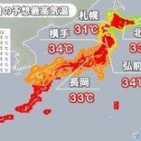 東北 朝8時台から30℃超え 35℃以上の猛暑日に迫る所も 熱中症に警戒