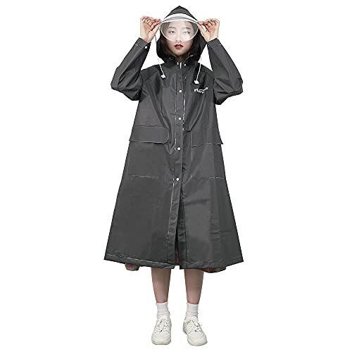【最新 男女兼用】 レインコート メンズ レディース 用 自転車 リュック対応 大きな帽子 丈夫なバイザー 軽量 通学 完全防水 防風 耐久性豪雨 梅雨対策 様々の場面に適用 HUIPHONE (ブラック)
