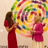 キャサリン妃とジル・バイデン大統領夫人、英国の小学校を訪問「子供達はおびえきってるわね」とジョークも