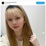 NiziU・リク、金髪ストレートのカチューシャ姿に「可愛すぎる」「似合い過ぎ」