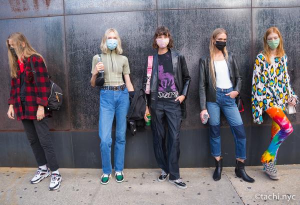 2020年9月のNYFW モデルたちもマスク着用を徹底