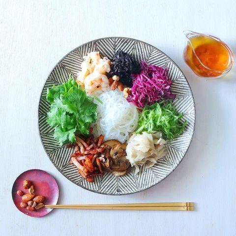 ひじき入り野菜たっぷり簡単春雨サラダ