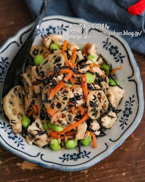 15分調理のひじきの五目炒り豆腐
