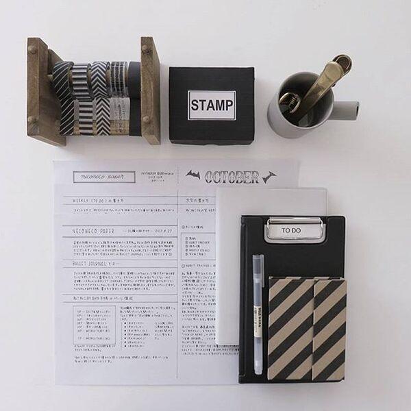 木製のおしゃれなマスキングテープホルダー