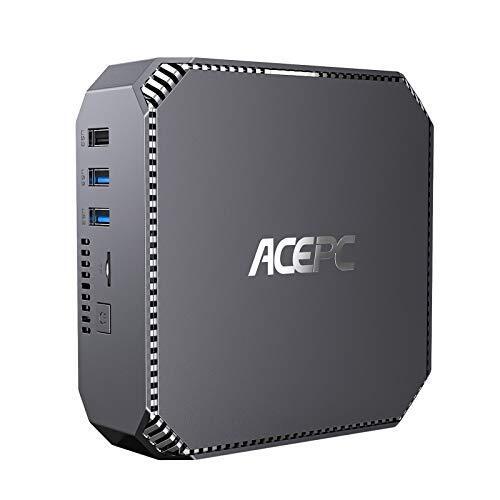 ミニpc 8GB DDR3 120GB SSD Windows 10 Pro 小型 パソコン インテル Celeron J3455 プロセッサー デスクトップ コンピューター 4Kの2画面同時出力可能 Bluetooth 4.2、2.4G / 5.0G WiFi対応 Mini PC