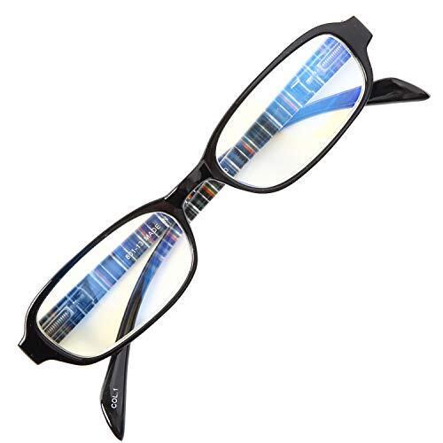 老眼鏡 NEW BL Cutter 801 バネ丁番 ブルーライトカット35% シンプルで締付け感なし 使いやすい老眼鏡 大ヒットモデル[PrePiar](ブラック,+1.5)