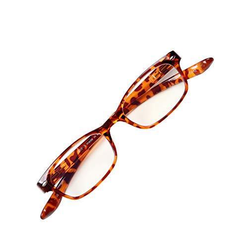 首に掛けられる老眼鏡 NEW Hold Neck 802 ホールドネック ブルーライトカット35% プレゼントパッケージ ユニセックス 眼鏡ケース 緩み調整ドライバー付き[PrePiar](デミブラウン・ 1.5)