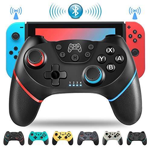 Switch コントローラー スイッチ コントローラー ダブルHD振動 ジャイロセンサー TURBO機能 無線Bluetooth ゲーム Switch/Switch lite/PC対応 550mAh バッテリー内蔵 steam pc対応