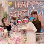 辻希美、34歳バースデーの家族6SHOT公開&子どもたちの手作りケーキに感激「子ども達からの愛が…」