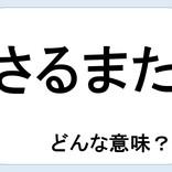 【クイズ】さるまたってどんな意味だか言える?意外に知らない!
