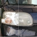 車のヘッドライトをサッとピカピカに! 研磨剤&コーティング剤配合のクリーナーがすごい…