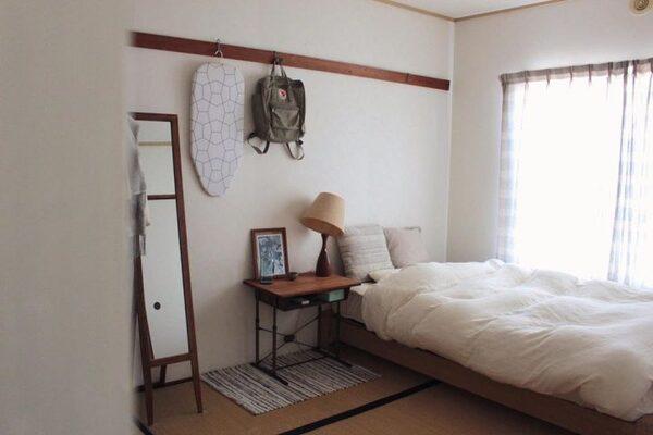 チェック柄のカーテンのスタイル例