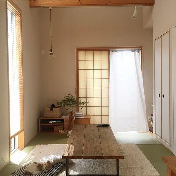 障子×カーテンのスタイル例