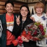 菅田将暉、神木隆之介&仲野太賀を抱きしめ『コントが始まる』撮了「こんな仲間ができました」
