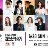 世界難民の日 特別配信 「100 万人のキャンドルナイト with UNHCR WILL2LIVE Music 2021」出演者最終決定!