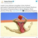 ちょっとした注目を集めた新体操選手の写真 「どういうことですか?」「人間じゃなくてマネキンでしょ」