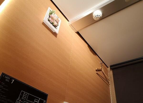 愛知県・名古屋市「アットインホテル名古屋駅」女性限定カプセルホテルエリア「アットインキャビン」キャビン内の天井