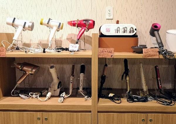 愛知県・名古屋市「アットインホテル名古屋駅」女性限定カプセルホテルエリア「アットインキャビン」ドライヤー