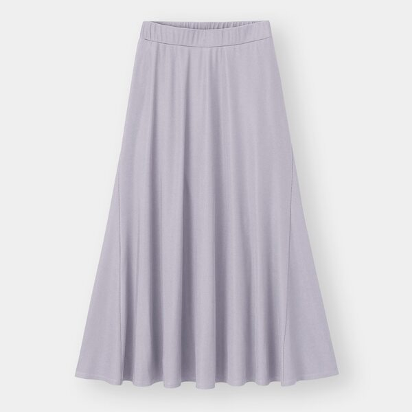 GUのリブイージーフレアスカートの写真