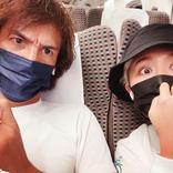 丸山桂里奈、新幹線車内で撮影した本並夫婦ショット披露
