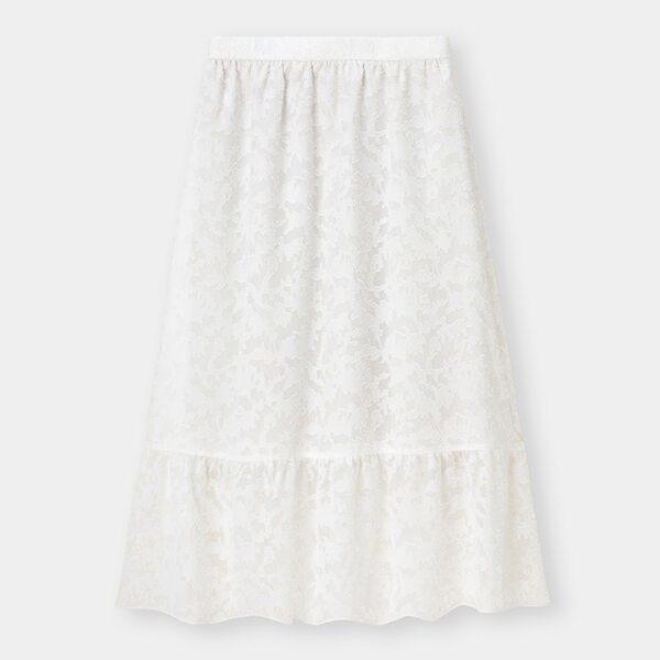 GUのシアージャガードフレアスカートの写真