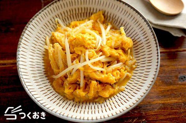 生姜焼きに合う副菜!もやしの卵とじ