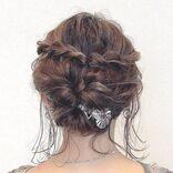 《結婚式》前髪なし×ボブの髪型特集。簡単アレンジで出来る大人のお呼ばれスタイル