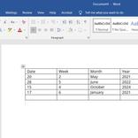 Microsoft Wordで作成した表を回転させる方法