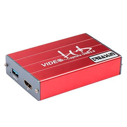 TreasLin hdmi キャプチャーボード Switch、Xbox、Wii U、PS4、PS3 ゲーム 実況ゲーム録画機器、OBS/Potpalyerライブ配信用 1080P Windows7/8/10、Mac OS Youtube/Twitch/NICONICO/jstarkan/Twitcasting/Facebook 生放送 1080PフルHD対応 HSV3211