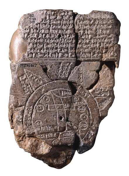 バビロニアの世界地図(紀元前600年ころ)
