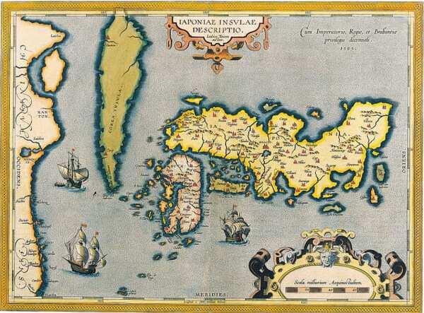 オルテリウスが描いた日本地図