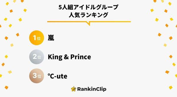 5人組アイドルグループ人気ランキング