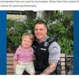 「人々の手助けをしたい」両腕がない6歳男児、警察官のパートナーに(米)<動画あり>