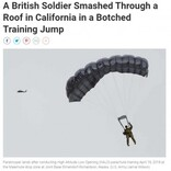 トム・クルーズも挑戦の軍事訓練 高度1万メートルからパラシュートでの着陸に失敗、兵士が民家の屋根を突き破る(米)<動画あり>