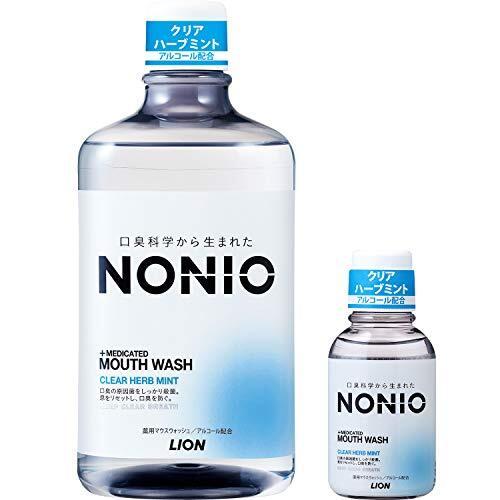 NONIO(ノニオ) [医薬部外品] マウスウォッシュ クリアハーブミント 洗口液 セット 1,000ml+ミニリンス80ml