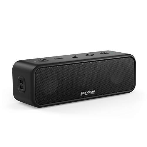 Anker Soundcore 3 Bluetooth スピーカー チタニウムドライバー デュアルパッシブラジエーター BassUpテクノロジー アプリ対応 イコライザー設定 USB-C接続 IPX7 防水 24時間連続再生 PartyCast機能 ブラック