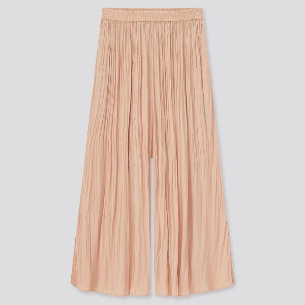 ワッシャーサテンスカートパンツ