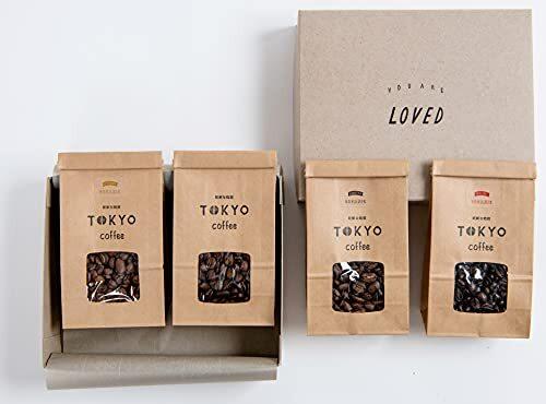 オーガニックコーヒー豆 お試しセット100g x 4袋 TOKYO COFFEE Organic Sampler Gift Set JAS認証 (豆のまま(ミルをお持ちの方))