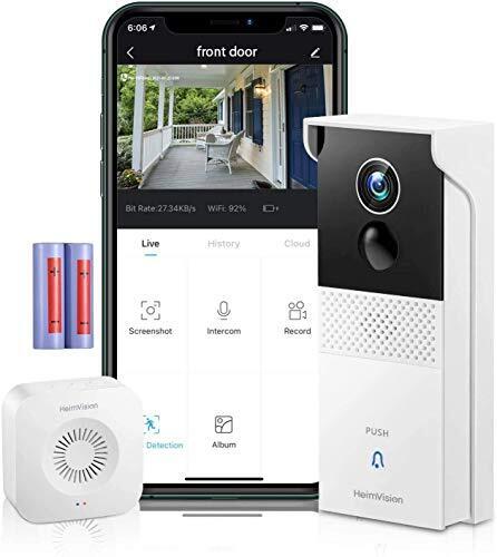 HeimVision テレビドアホン インターホン HMB1 2021年版 1080P ワイヤレス 無線WiFi スマホ連動機能 録画可能 双方向通話 暗視機能 動体検知 IP65防塵防水 工事不要 日本仕様