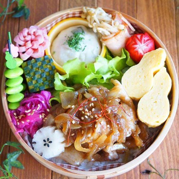 生姜焼き弁当の詰め方レシピ12
