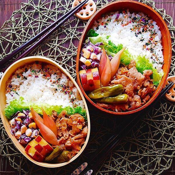 生姜焼き弁当の詰め方レシピ14