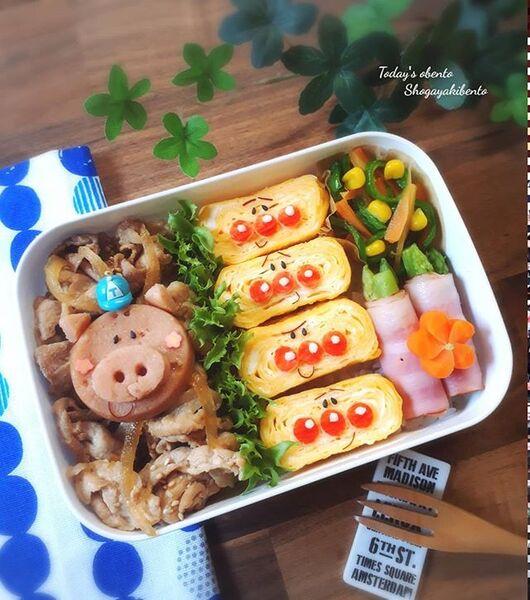 生姜焼き弁当の詰め方レシピ2