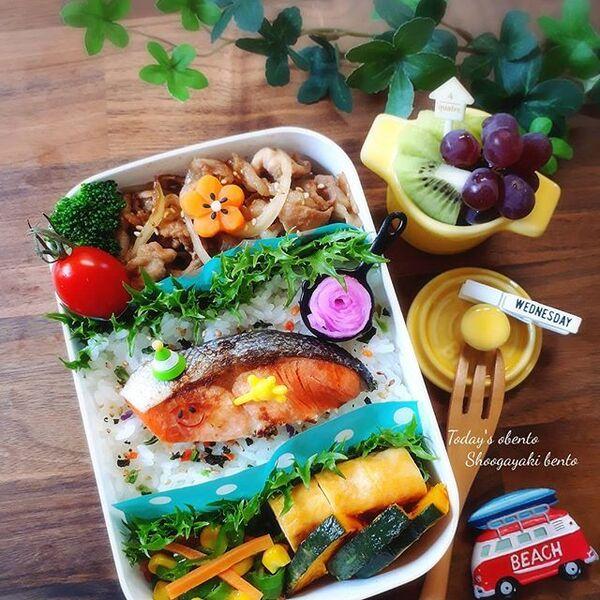 生姜焼き弁当の詰め方レシピ7