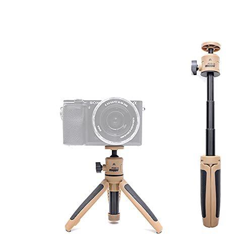 Vlogger PTZ-03 ミニ三脚 DSLR一眼レフ電話Vlog三脚コールドシュー電話マウントホルダー マイクLEDライト三脚ミニ用 ソニーA6400 A6300用