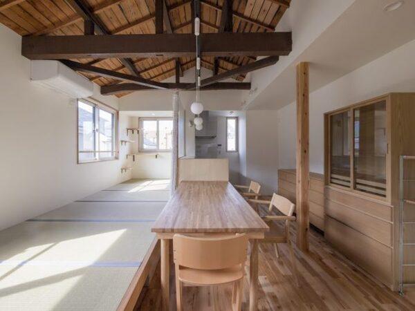 梁や天井がおしゃれな和モダンダイニング実例
