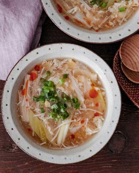 えのき酸辣湯スープ