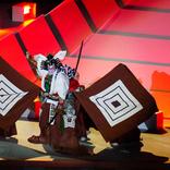海老蔵が世界に「見え」、開会式終盤に約60キロ衣装で「暫」披露
