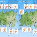 関東地方 土日も厳しい暑さ 万全の熱中症対策を その先 台風8号の動向に注意