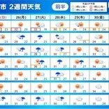 2週間天気 台風8号が関東に上陸の恐れ 台風去っても不安定 雷雨と猛暑に警戒