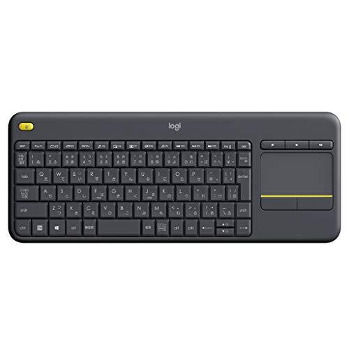 ロジクール ワイヤレスキーボード タッチ キーボード K400pBK 国内正規品